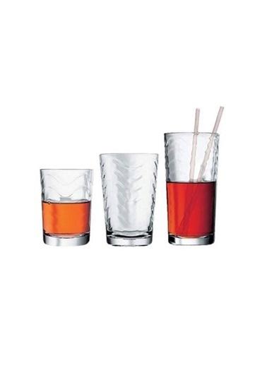 Paşabahçe Toros Su Bardak Seti Takımı - 18 Prç. Su Bardağı Seti Takımı Renkli
